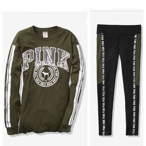 NIP VS PINK BLING CAMPUS TEE/LEGGING